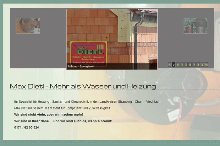 dietl-haustechnik.de Max Dietl Mehr als Wasser und Heizung