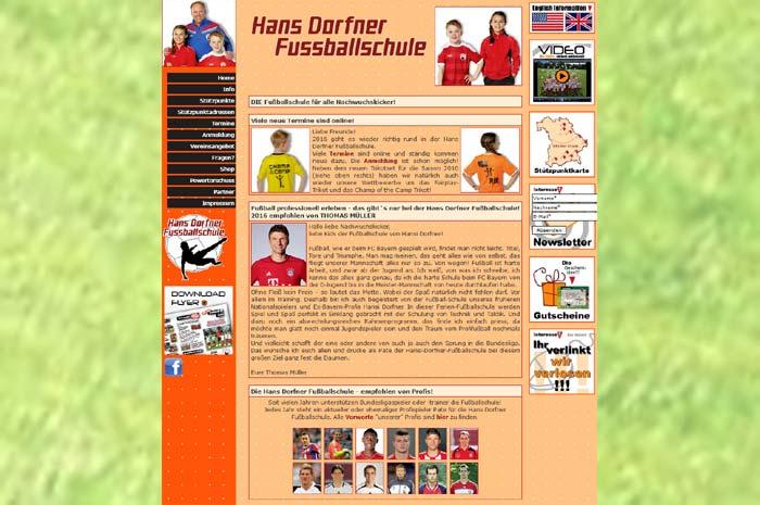 fussballferien.de fussball und fun Eure Hans Dorfner Fussballschule