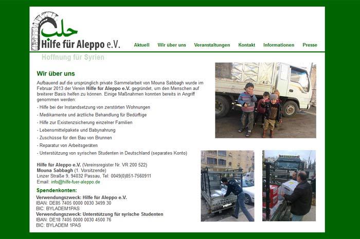 hilfe-fuer-aleppo.de Hilfe für Aleppo e.V. Hoffnung für Syrien