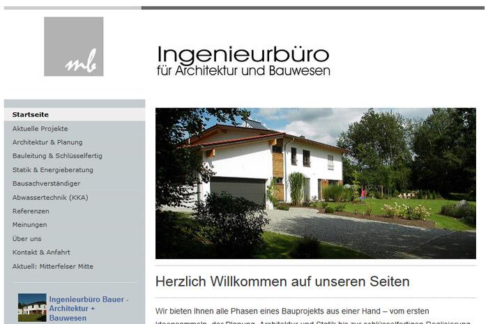 ingenieurbuero-bauer.com Architektur und Bauwesen Ingenieurbüro Bauer