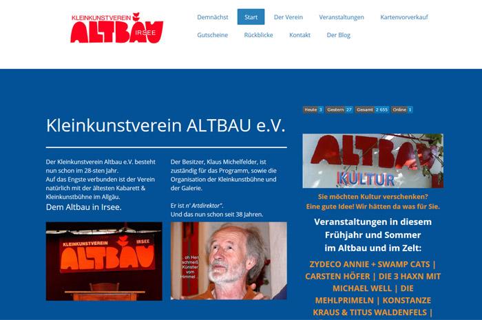 kleinkunstverein-altbau.de Kleinkunstverein ALTBAU e.V. Irsee