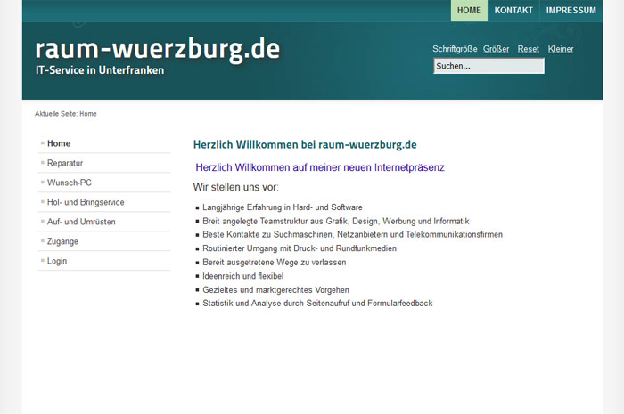 raum-wuerzburg.de PC und mehr IT-Service in Unterfranken