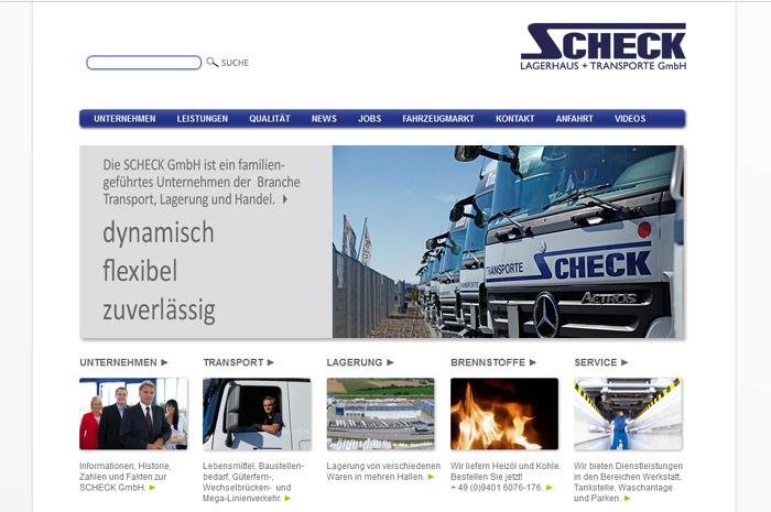 schecktrans.de Scheck GmbH Lager, Transport, Handel