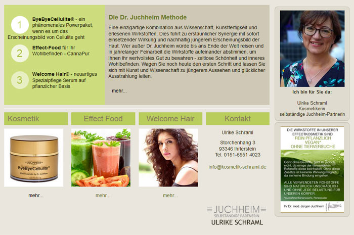 ulrike-schraml.de Ulrike Schraml - Kosmetikerin - Selbständige Juchheim-Partnerin -
